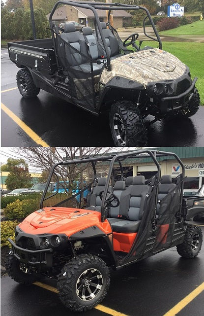 Intimidator Camo & Orange UTVs